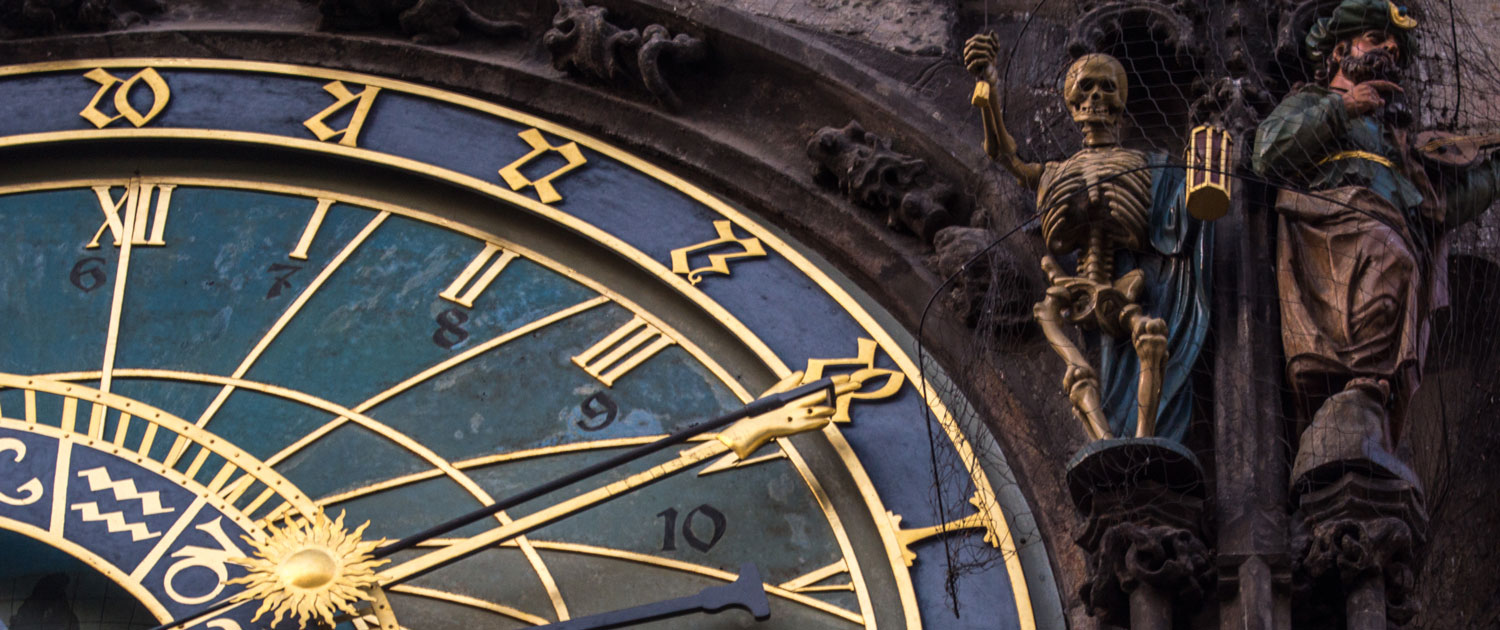 Photograph of Prague's astronomical clock