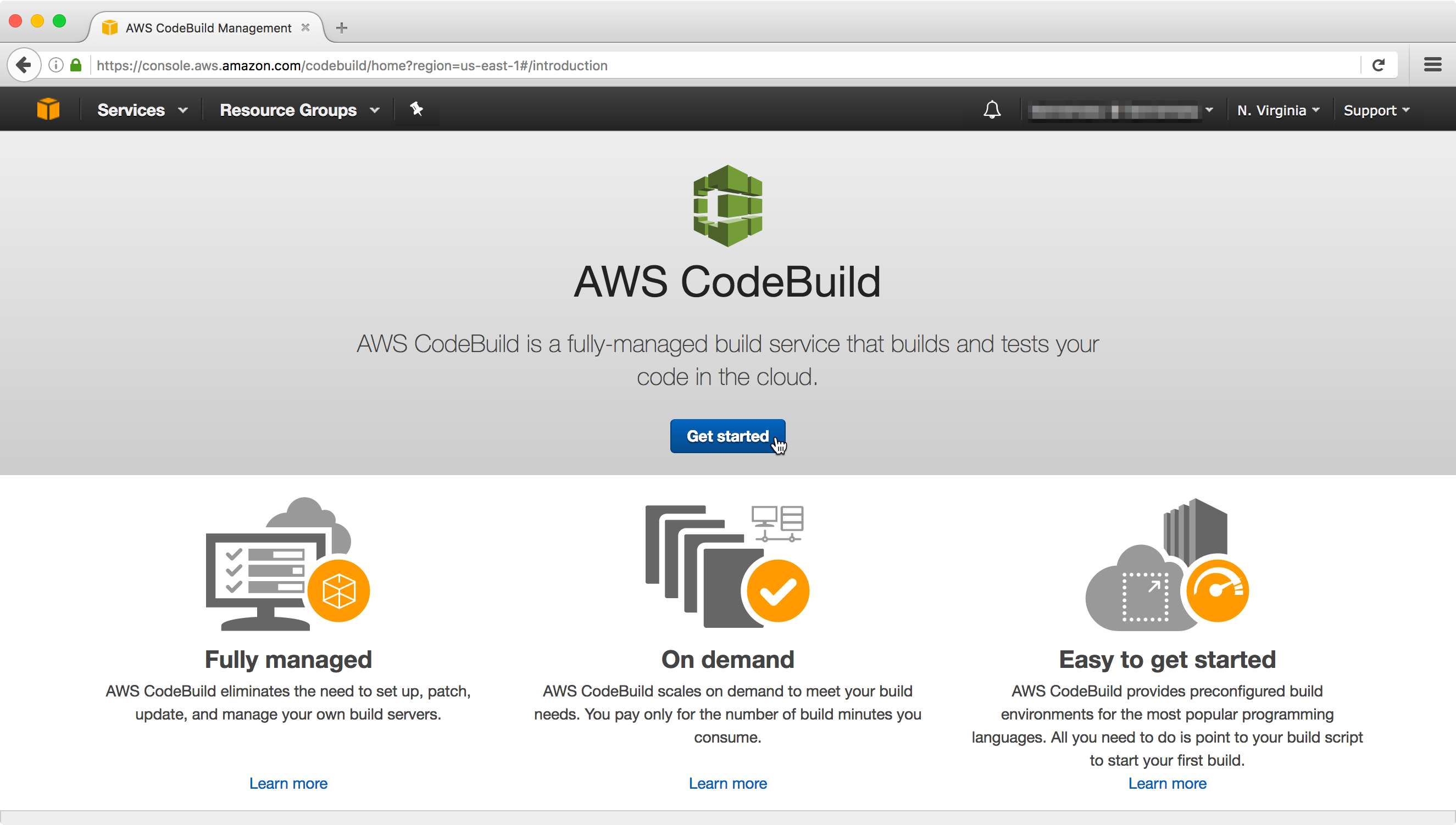 Getting started with AWS CodeBuild