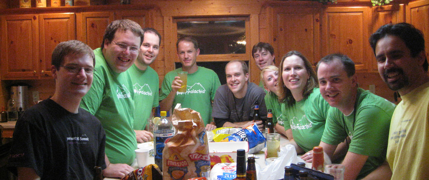PHP people hanging out in the Big Bear Lodge